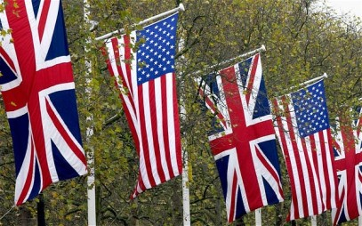 US UK British Flags
