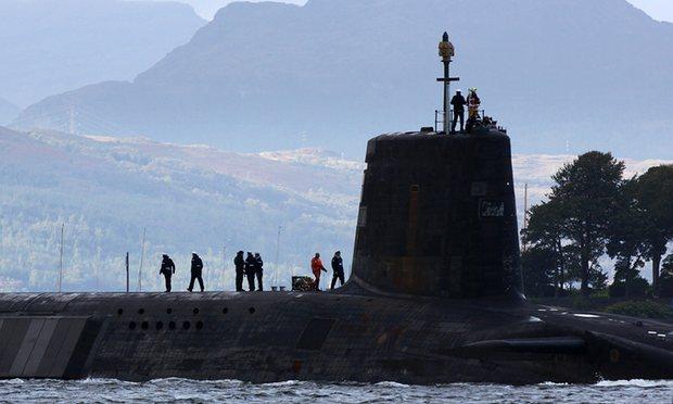 Vanguard class submarine - Royal Navy