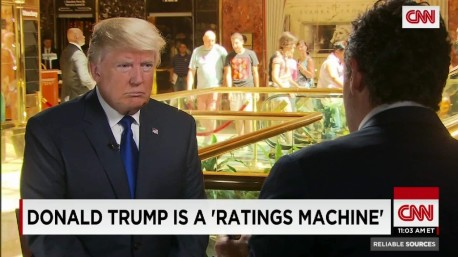 Donald Trump - Ratings Machine - CBS - Les Moonves - CNN - Television News