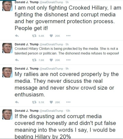 Donald Trump twitter - media coverage