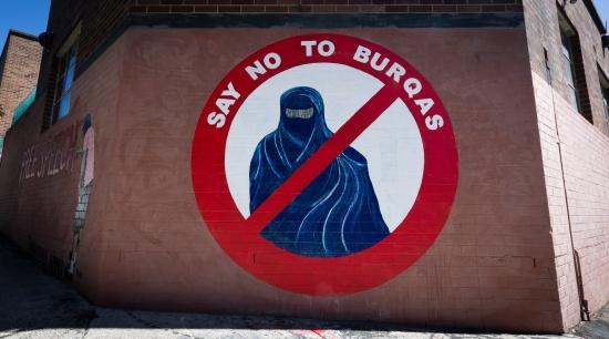 Free Speech - Say No To Burqas - Burkini - Mural