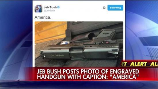 Jeb Bush - Twitter - Gun - America