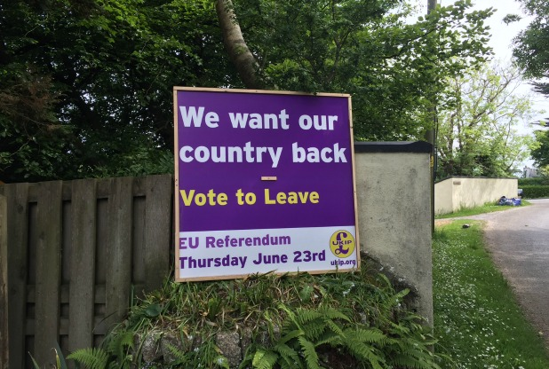 UKIP poster - yard sign - EU referendum