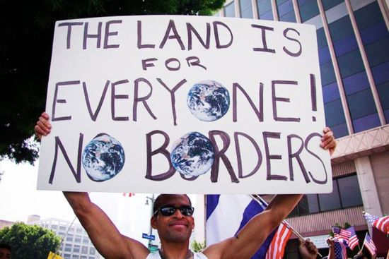immigration-the-land-is-for-everyone-no-borders