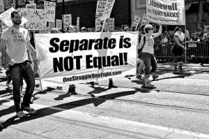 Separate is NOT equal - Stonewall - segregation - LGBT