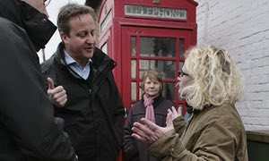 David Cameron confronted by angry voter