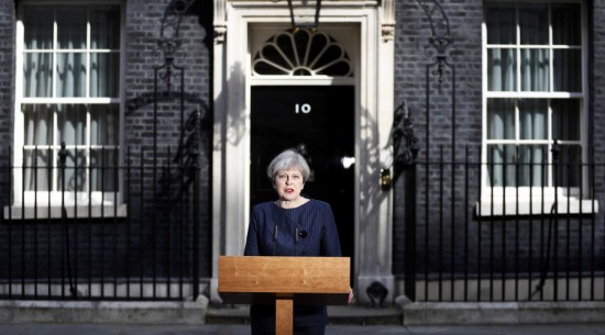 Theresa May - Conservative Party - General Election 8 June - Parliament - Downing Street