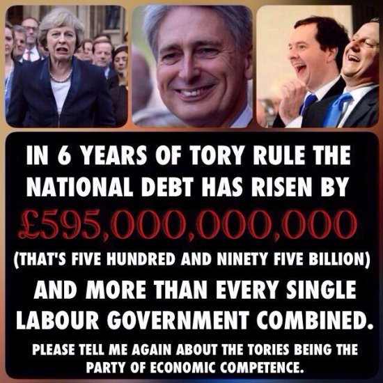 Labour Party attack ad Tories national debt