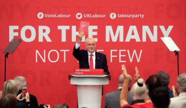 Labour Party General Election 2017 Manifesto - Jeremy Corbyn - For The Many Not The Few