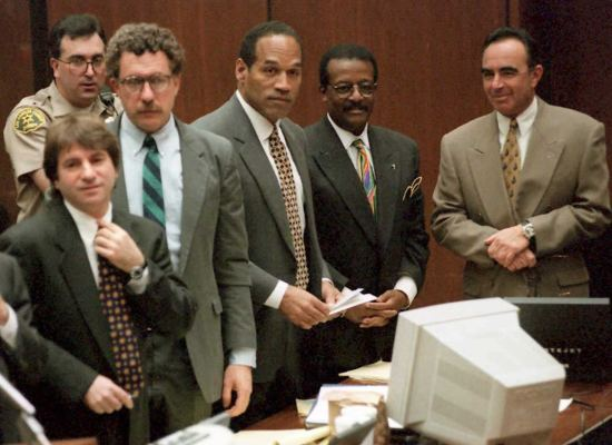 O.J. Simpson (C) and members of his defense team s