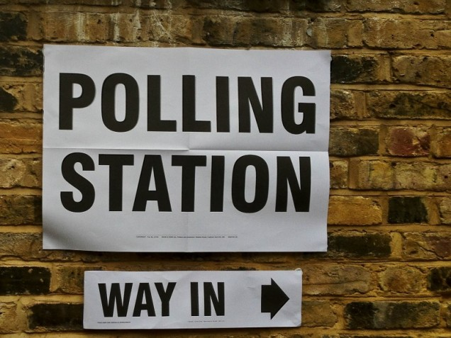 General Election 2017 - polling station sign