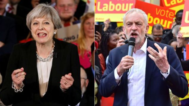 General Election 2017 - Theresa May - Jeremy Corbyn - Conservatives Tories - Labour