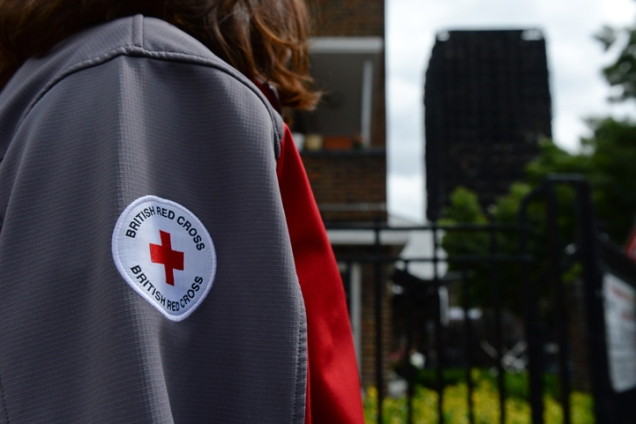 Grenfell Tower fire - disaster relief - Red Cross