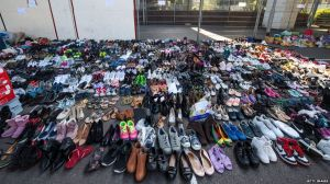 Grenfell Tower fire donations - shoes