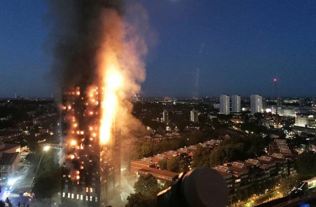 Grenfell Tower fire inferno