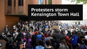 Kensington Town Hall Protests - Grenfell Tower