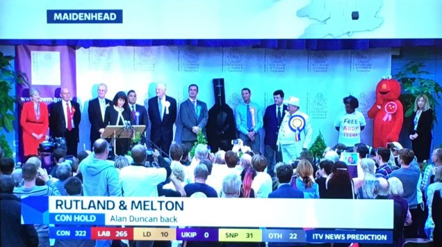 Theresa May - election count - Lord Buckethead