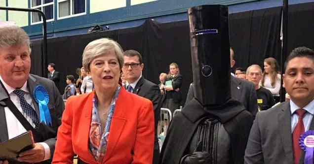 Theresa May - Lord Buckethead