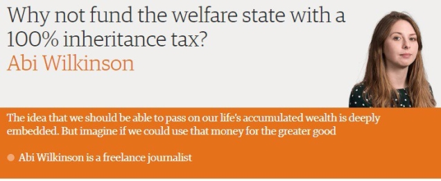 Abi Wilkinson - 100 percent inheritance tax