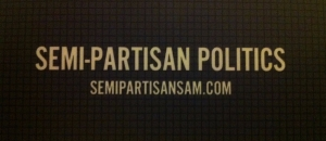 Semi-Partisan Sam blog logo and web address