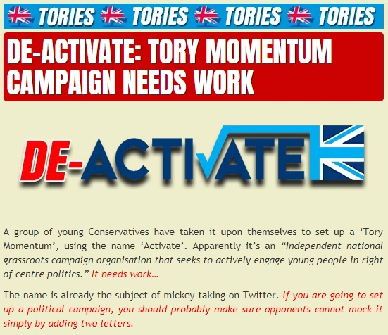 Activate - Tory Momentum campaign - conservatism - youth vote