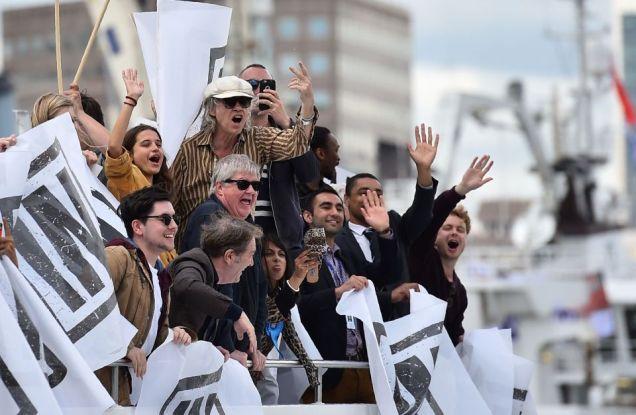 Bob Geldof - EU Referendum - Brexit- Fisherman boat protest