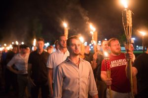 Charlottesville protest - alt right march tiki torches