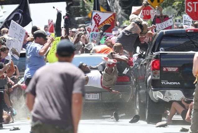 Charlottesville protest - car attack - far right domestic terrorism