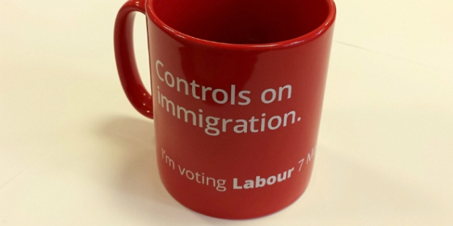 Labour - controls on immigration mug - general election 2015