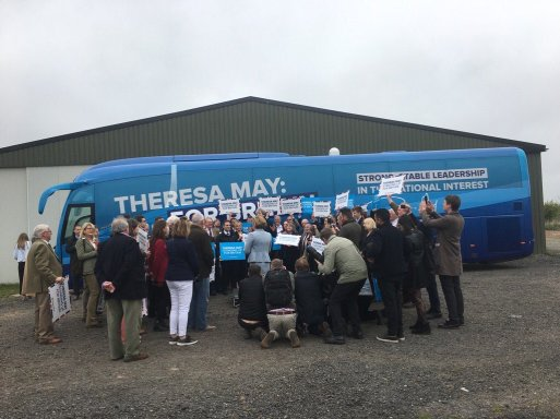 Theresa May - conservatives - campaign rally crowd