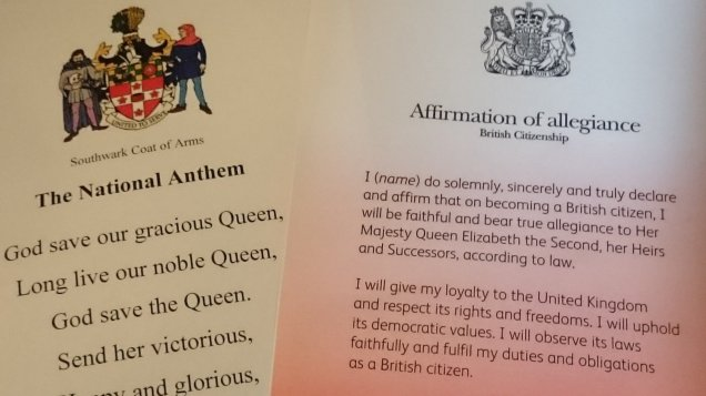 British citizenship ceremony 2