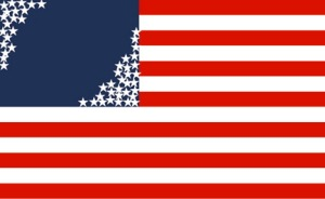 Divided States of America - modified US flag
