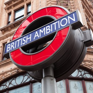 British Ambition - underground tube sign