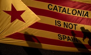 Catalonia is not Spain - declaration of independence flag