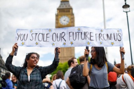 EU protest - You Stole Our Future From Us