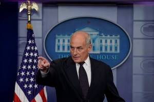 John Kelly - White House chief of staff - press briefing - Donald Trump call to military families