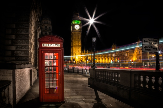 Westminster Big Ben Telephone Box