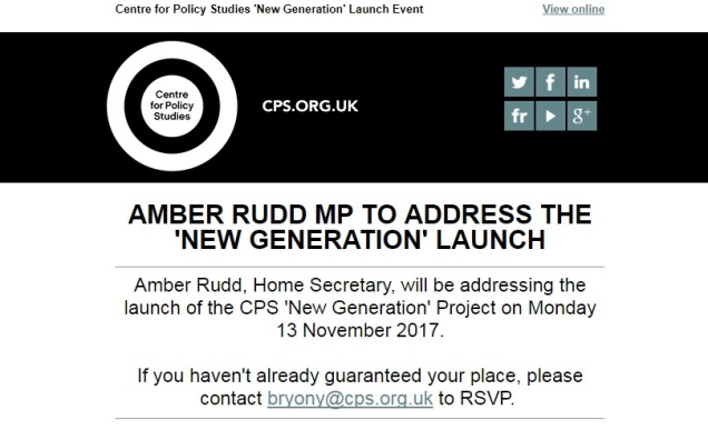 Centre for Policy Studies - CPS - New Generation project launch event