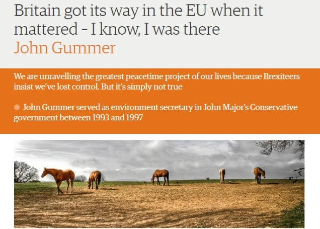 John Gummer - Environment Secretary - Brexit - Live horse export - Remainer