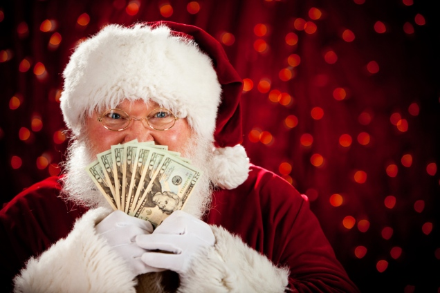 Santa - Father Christmas - blog pledge drive donations