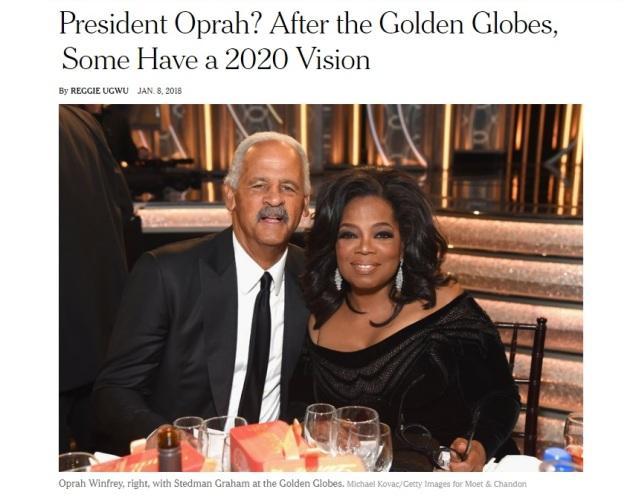 Oprah Winfrey - Golden Globes acceptance speech - MeToo - President Oprah