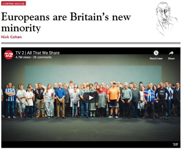 Europeans are Britains new minority - Brexit hysteria - Nick Cohen