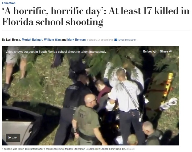 Mass Shooting - Marjory Stoneman Douglas High - Parkland Florida - Gun Control