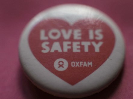Oxfam - love is safety badge