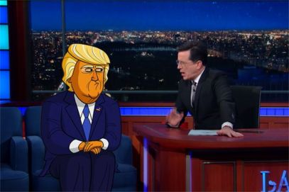 Stephen Colbert - Cartoon Donald Trump