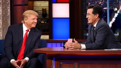 Stephen Colbert interviews Donald Trump