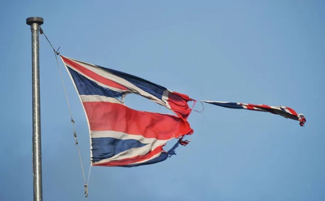 Tattered Union Flag - Britain - United Kingdom - Building a Britain Fit for the Future - Tories - Conservatives - Theresa May