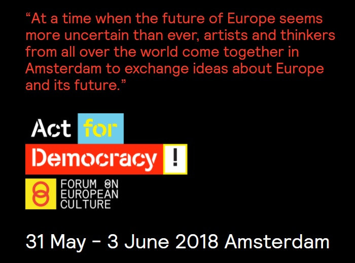 Act for Democracy - artists European Union bias propaganda