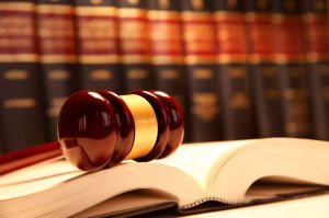 Law school - books and gavel