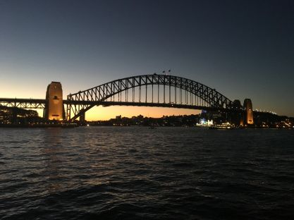 Sydney Harbour Bridge at dusk - SJH